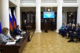 Изображение к новости 'Meeting of Legislators with the President of Russia'.